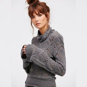 Free People | Gray Shoot From The Heart Sweater